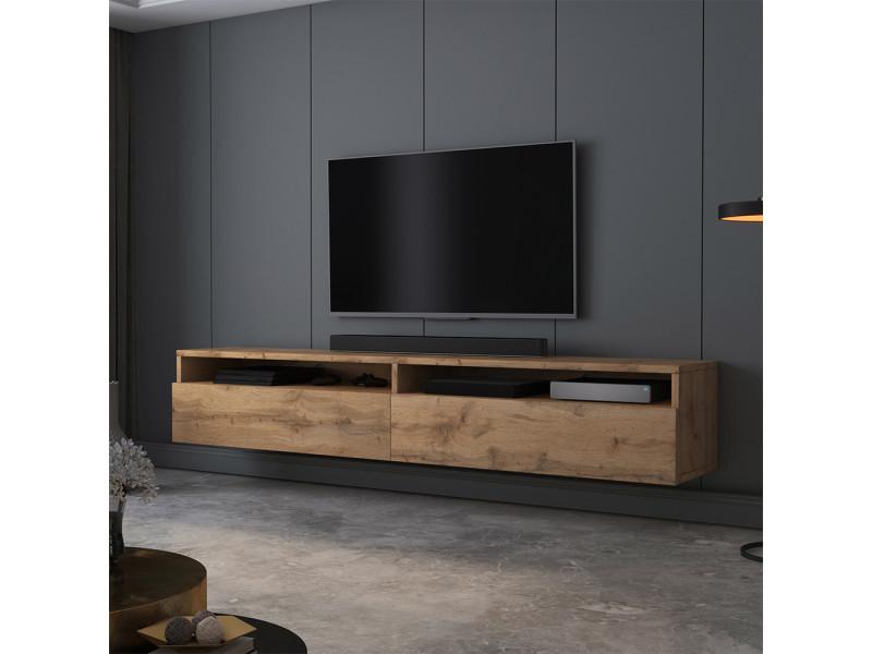 Meuble tv - rednaw - 180 cm - chêne wotan