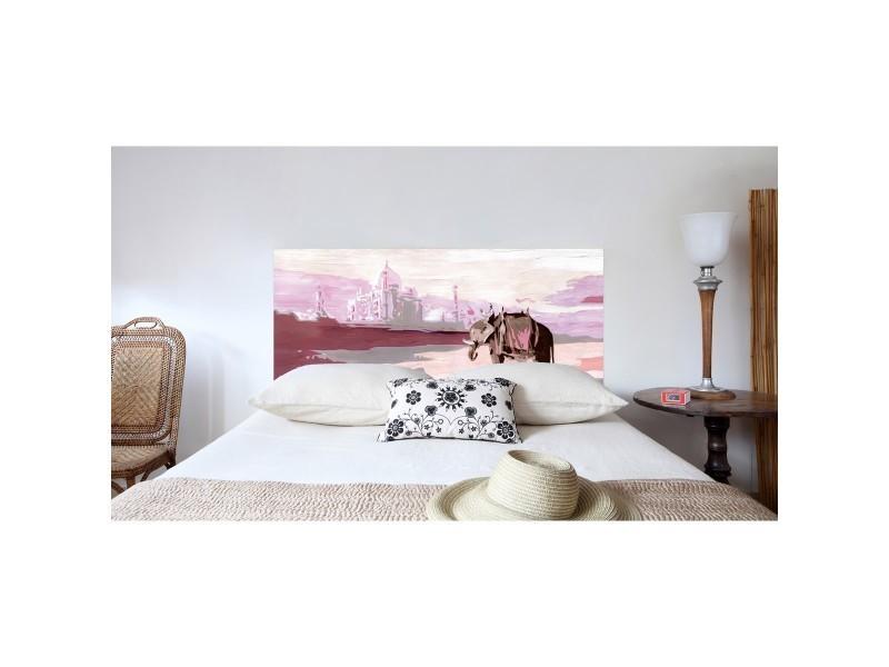 t te de lit en tissu palais indien fixer sans support en bois conforama. Black Bedroom Furniture Sets. Home Design Ideas