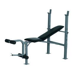 Banc de musculation fitness entrainement complet dossier réglable curler supports barre et haltères neuf 32