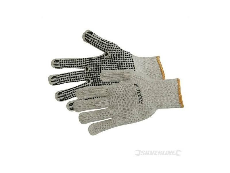 Silverline - gants à points pvc sur paume