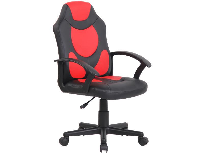 Fauteuil de bureau pour enfants adale , noir / rouge