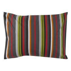 Cotonflor - taie d'oreiller coquelicot multicolore - 50 x 70 cm