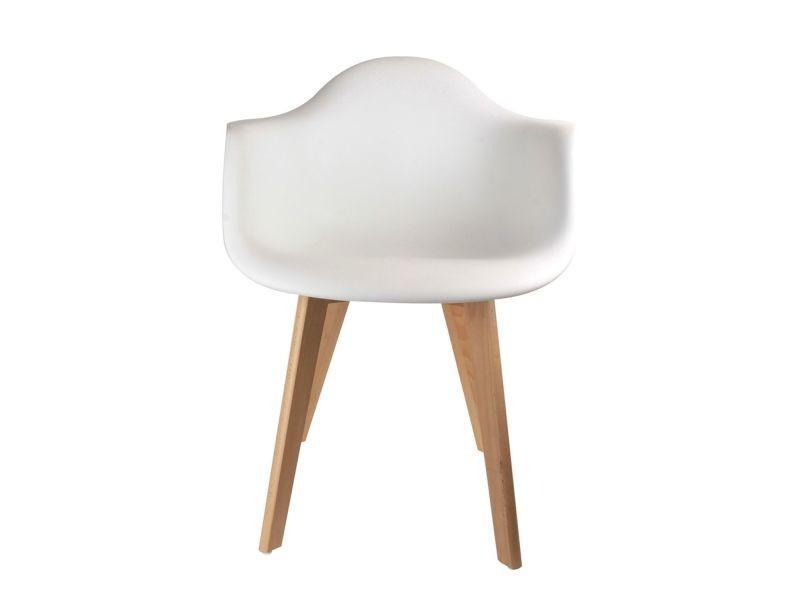 Fauteuil scandinave enfant - h. 54 cm - blanc - Vente de Chaise ...