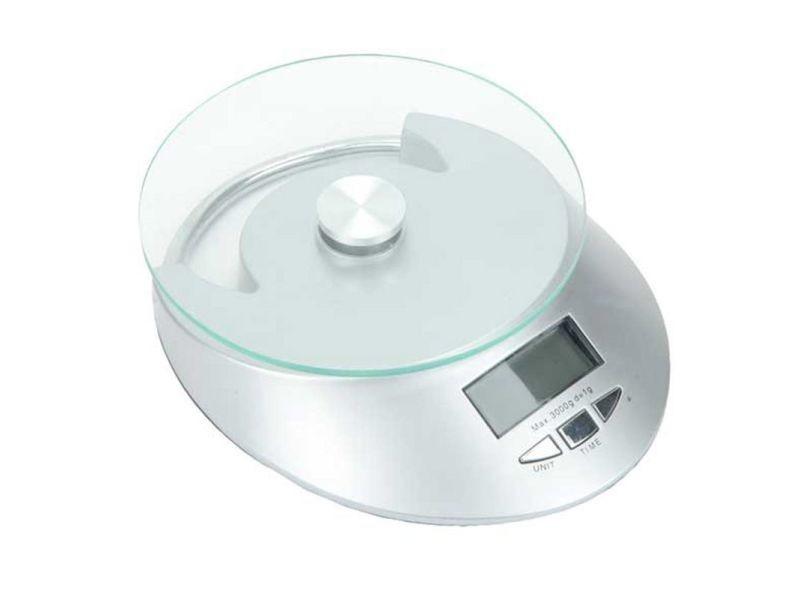 """Balance de cuisine digital """"pesée"""" 16cm argent"""