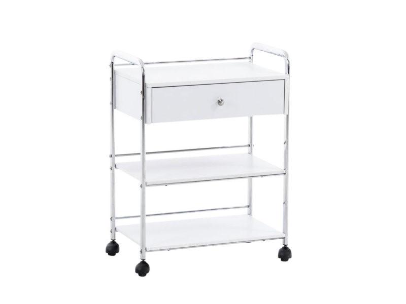 Chariot d'équipements pour cosmétiques pl912 , blanc