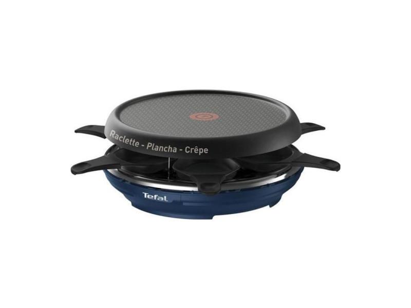 Tefal raclette colormania bleu 850w 6 personnes re12a412