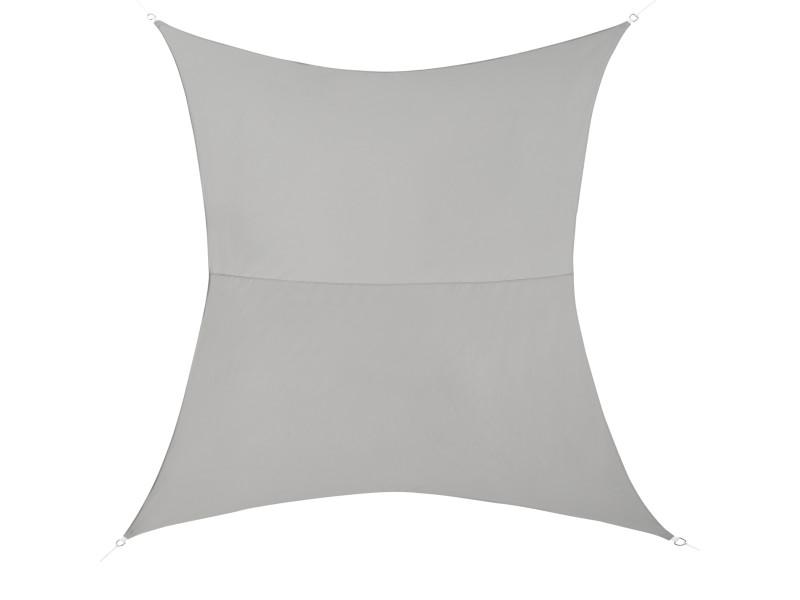 [en.casa] voile d'ombrage toile d'ombrage toile de protection polyester polyuréthane quadrilatéral gris clair 3x4 m
