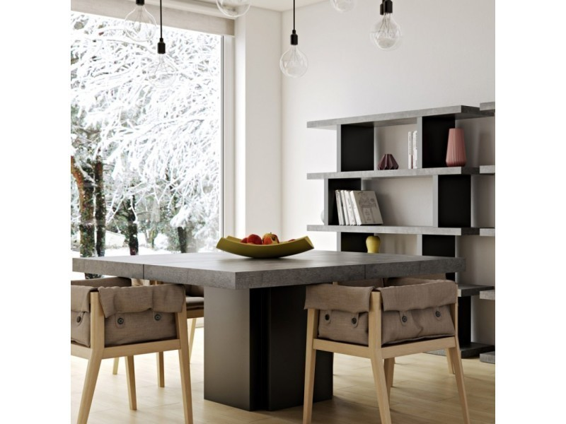Table repas dusk 130 x 130 cm effet béton 20100848546