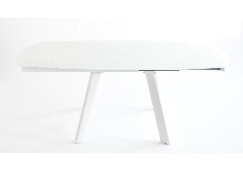 Subleem table rallonge intégrée 130/160 cm spid blanc