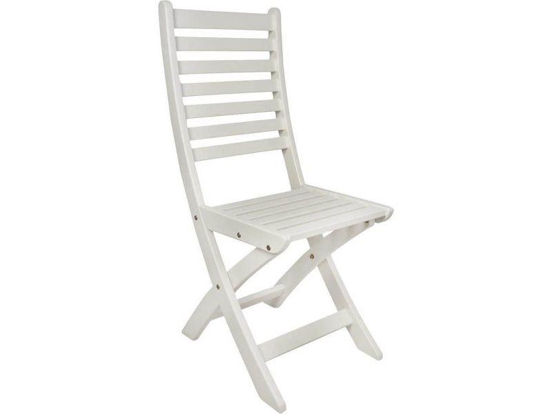 Chaise pliante en pin blanc