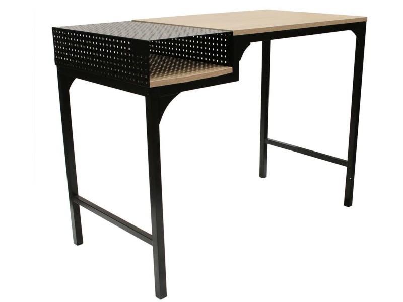 Bureau design en métal et bois