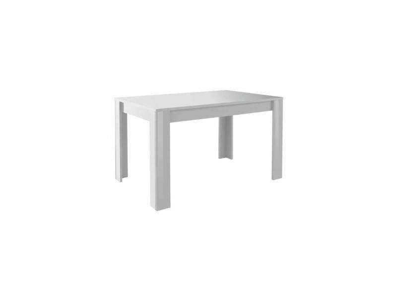 Table de repas laqué blanc brillant - scafati - l 180 x l 90 x h 79 - neuf