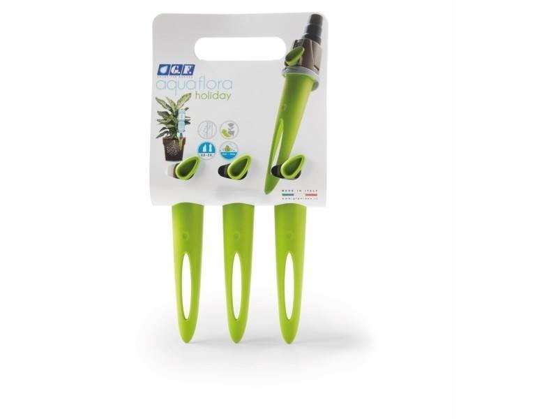 Gf - arroseur individuel pour plante d'intérieur aquaflora holiday x 3 - vert 80286344
