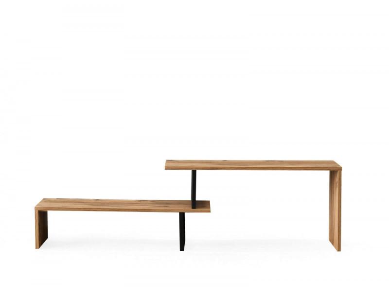 Subleem meuble tv 120 cm ptio noir et bois clair