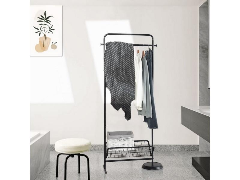 Porte-serviettes métal noir