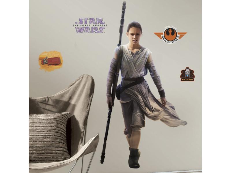 Stickers géant rey star wars