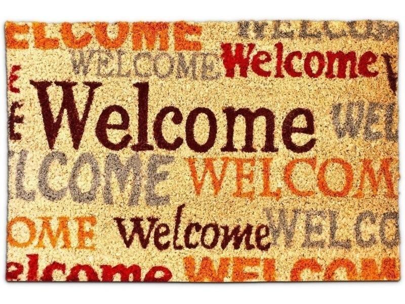 Paillasson tapis porte d'entrée essuie-pieds fibre de coco 60 x 40 cm helloshop26 2013029