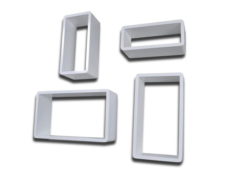 Vidaxl étagères murales sous forme de cube 8 pcs blanc 275971