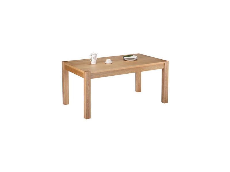 Table rectangle chêne clair 160 cm
