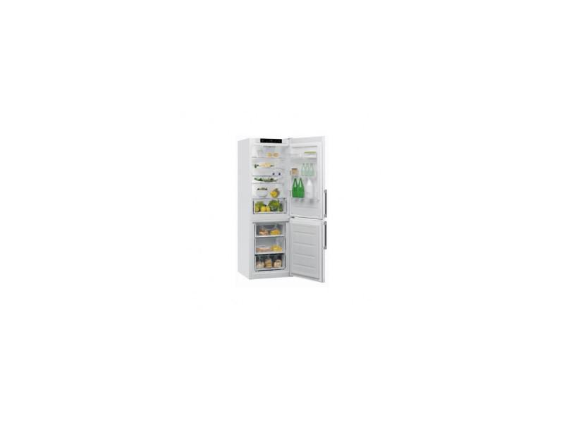 Réfrigérateur combiné 339l froid brassé whirlpool 60cm a++, w5821cwh CODEP-W5821CWH