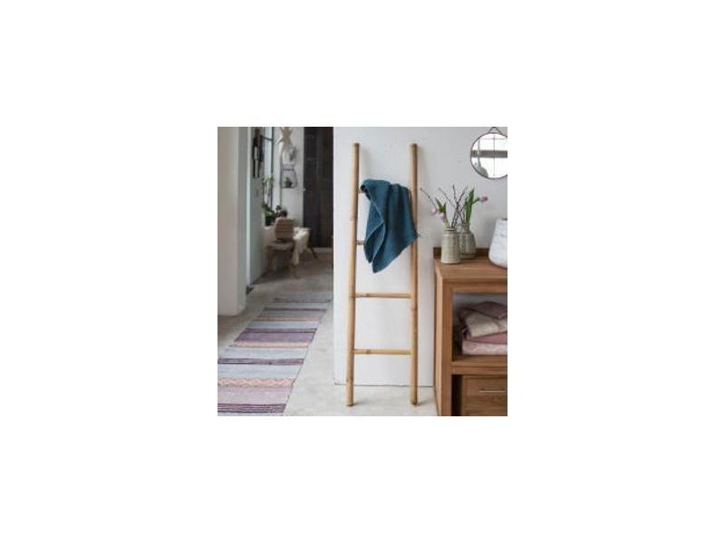 echelle porte serviette en bambou naturel conforama. Black Bedroom Furniture Sets. Home Design Ideas