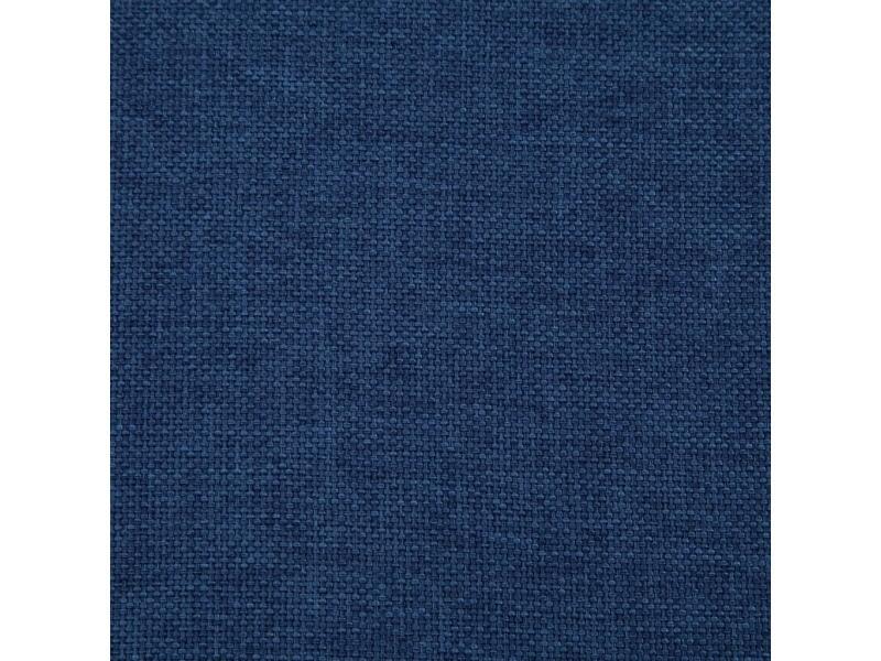 Icaverne - bancs coffres ensemble banc avec compartiment de rangement 116 cm bleu polyester