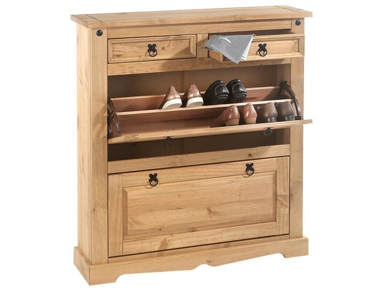 meuble chaussures tequila style mexicain armoire avec 2. Black Bedroom Furniture Sets. Home Design Ideas
