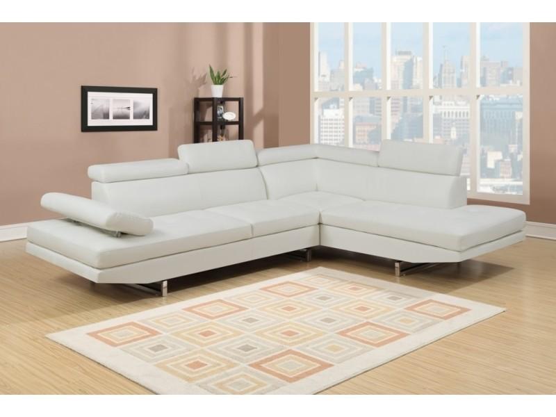Canapé d'angle design rubic blanc-