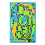 Tapis pour enfant motifs circuit de route, 100 cm x 150 cm -pegane-