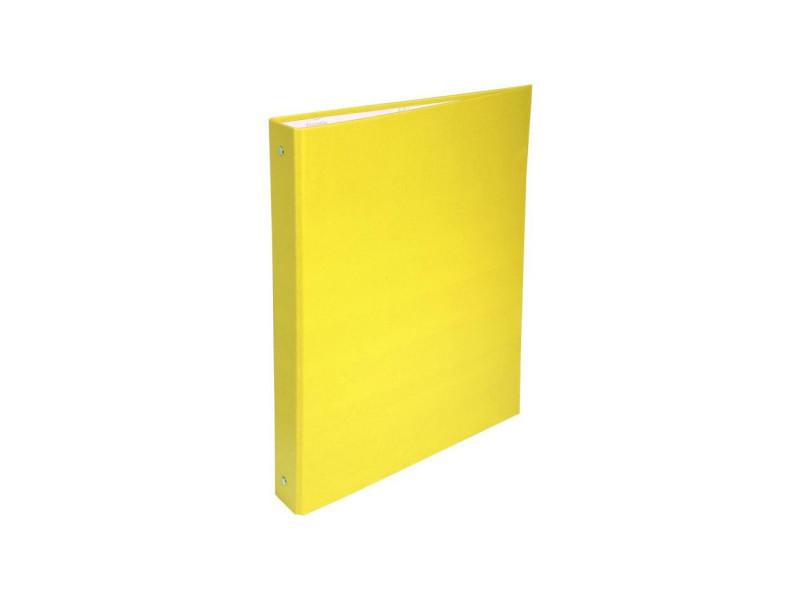 - classeur a anneaux - dos 40 mm - 21 x 29,7 - 4 anneaux - remborde plastique 18/10eme - couleur jaune EXA3130630513797