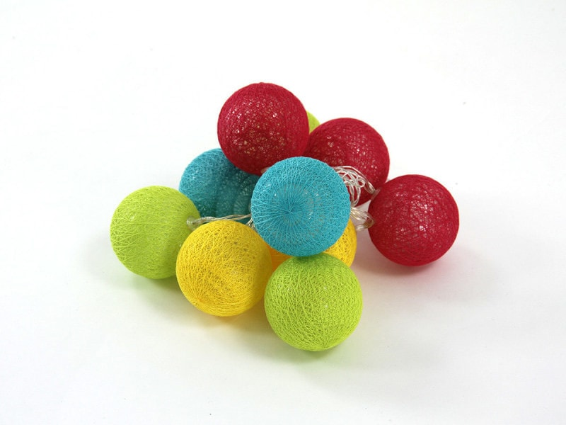 Guirlande lumineuse 10 boules led - multicolore - atmosphera