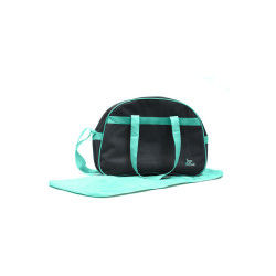 Sac à langer turquoise avec tapis