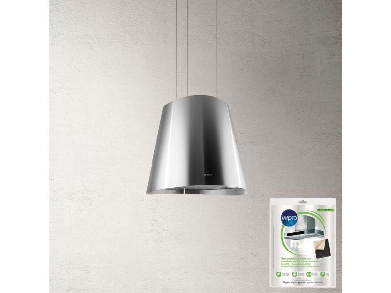 Elica hotte décorative centrale ilôt aspirante inox diamètre 50cm débit d'air 603m3/h