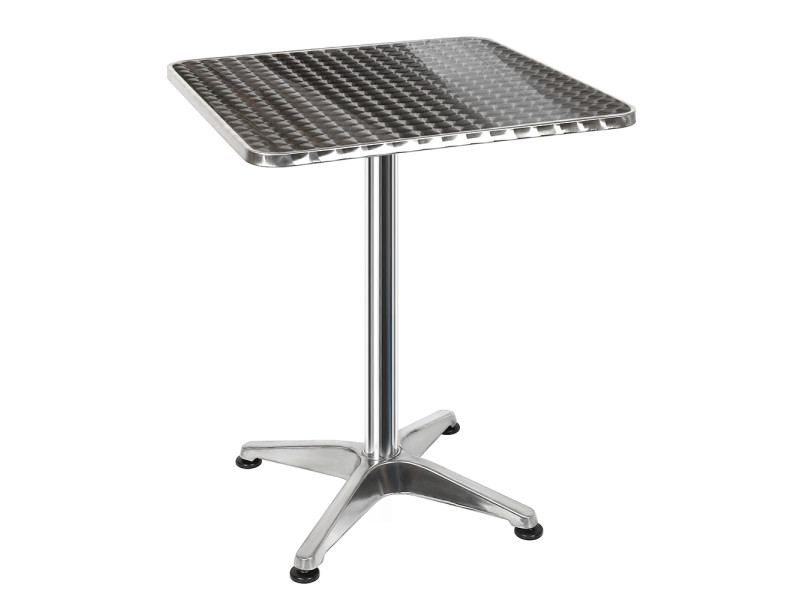 Table de bar table de cuisine bistro salle à manger hombuy hauteur réglable plateau inox