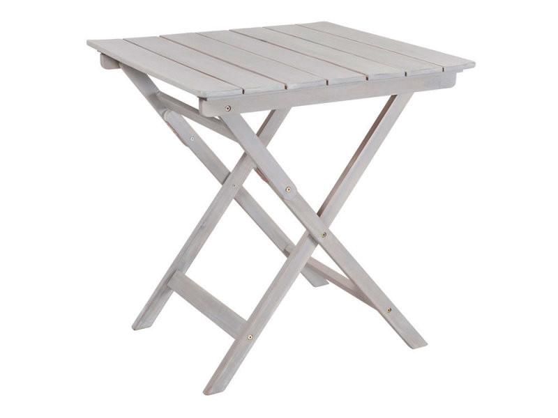 Table de jardin pliante en acacia gris 70c70cm silverwood vente de salon de jardin conforama - Table jardin pliante bois ...