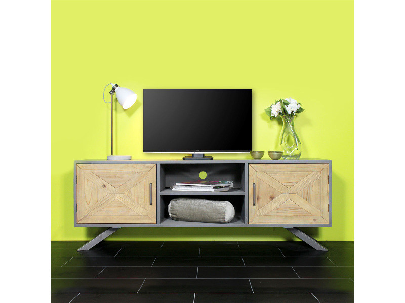 meuble tv original y77 vente de meuble tv conforama. Black Bedroom Furniture Sets. Home Design Ideas