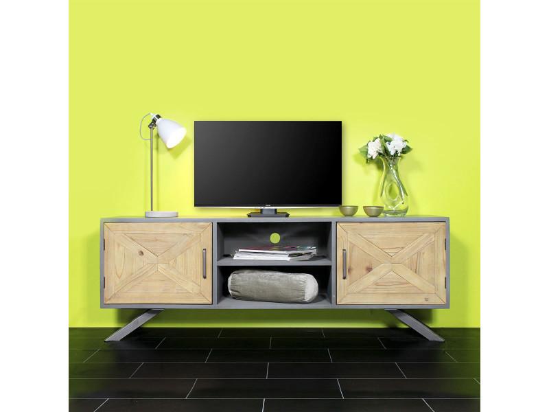meuble tv original y77 vente de meuble tv conforama. Black Bedroom Furniture Sets. Home Design Ideas