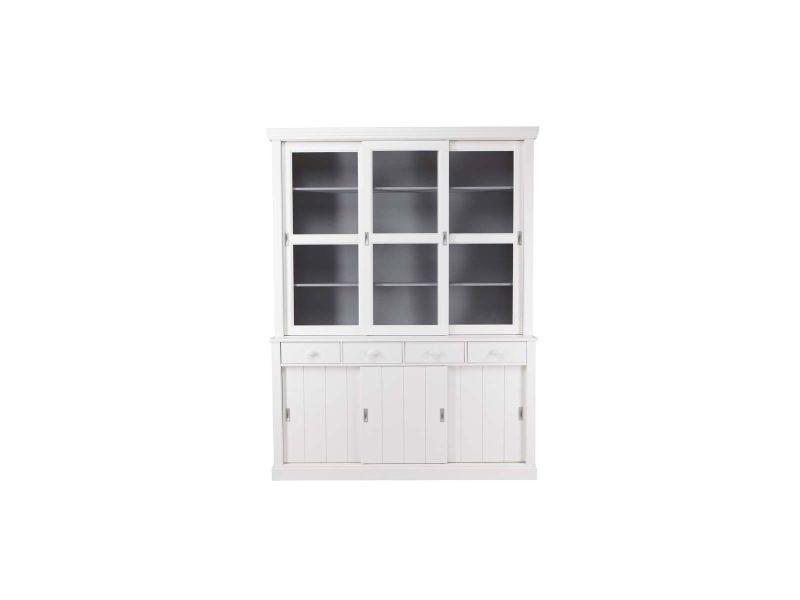Buffet vaisselier en pin blanc bodri - Conforama 007c218ae635