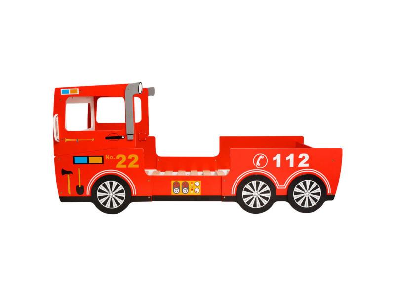 Vidaxl Lit Camion De Pompier Pour Enfants 200 X 90 Cm Rouge 244521