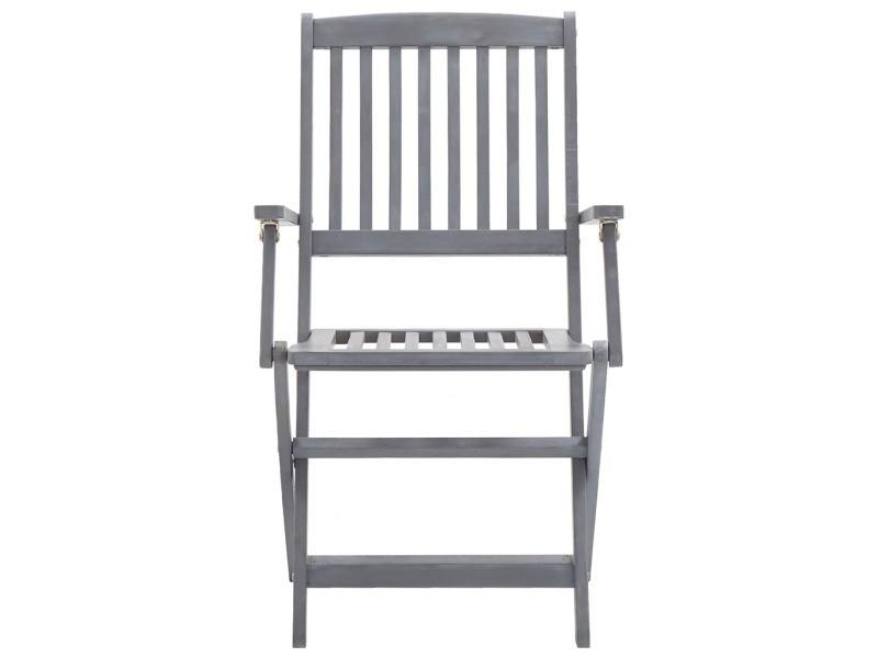 Vidaxl chaises pliables d'extérieur 4 pcs bois d'acacia solide 46334