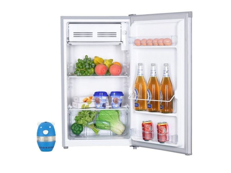 Réfrigérateur frigo simple porte table top inox 93l a+ froid statique