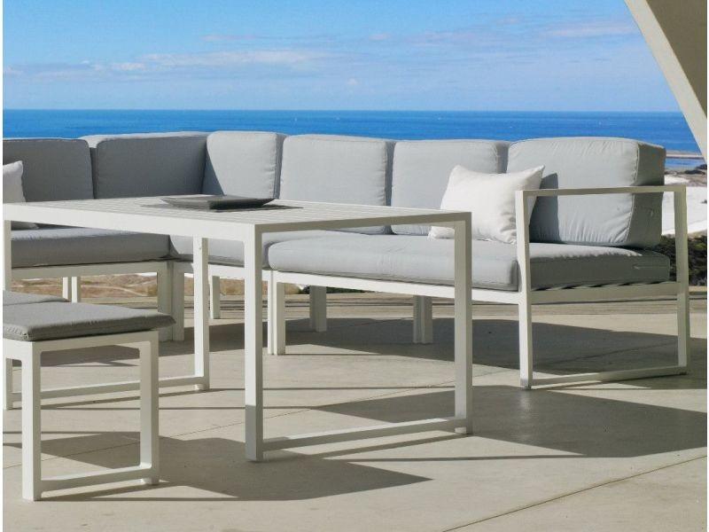 Salon de jardin en aluminium canapé d\'angle anaele - Vente ...