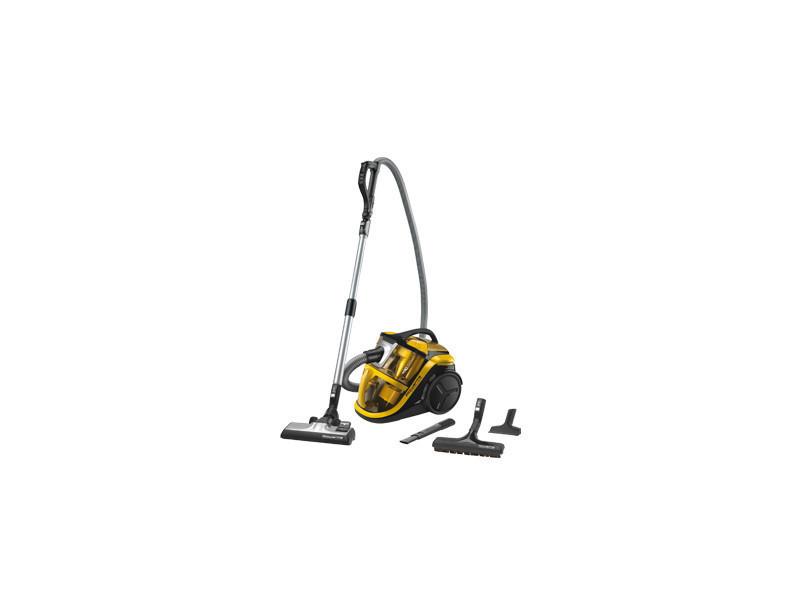 Rowenta silence force multi-cyclonic ro8324 aspirateur réservoir cylindrique 2l 750w a noir, jaune