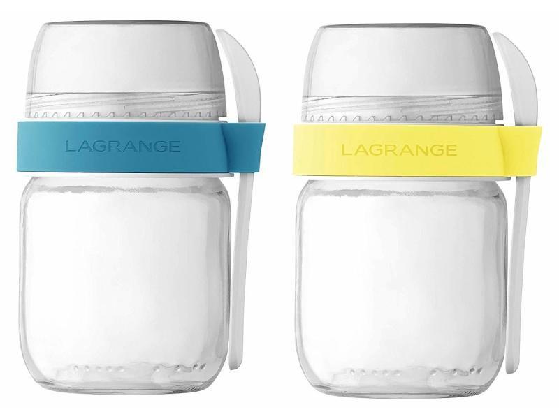 Lot de 2 pots de yaourts à emporter lagrange