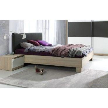 Chambre coucher compl te collection eden lit 140x190 cm - Chambre a coucher complete conforama ...