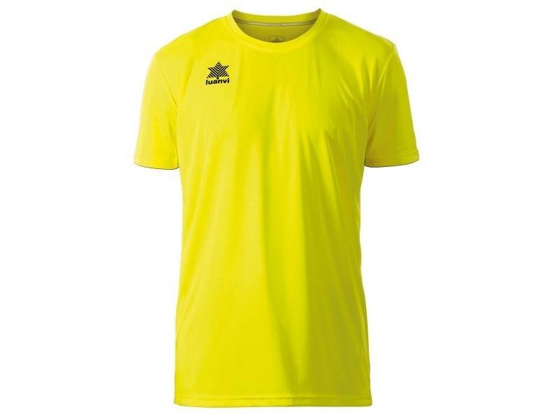 T-shirt de sport stylé taille 4xl maillot de corps de sport à manches coupe luanvi pol jaune