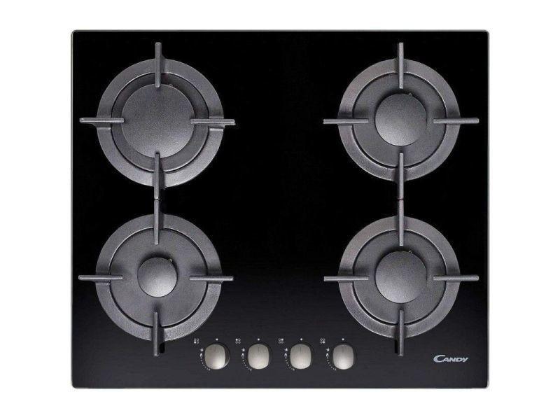 Candy cvg 64 sgnx - table de cuisson au gaz - 4 plaques de cuisson - niche - largeur : 56 cm - profondeur : 48 cm