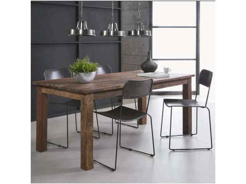 Table repas lodge 180x90cm bois recyclé 20100880412