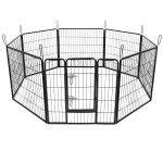 Parc enclos cage pour chiens chiots animaux de compagnie 163 x 163cm noir 3712021