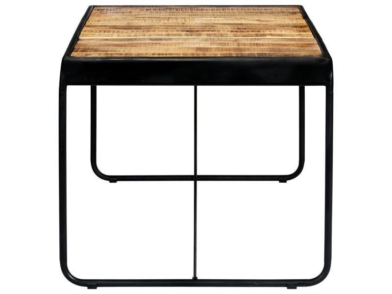 Vidaxl table de salle à manger 180x90x76 cm bois de manguier brut 247866